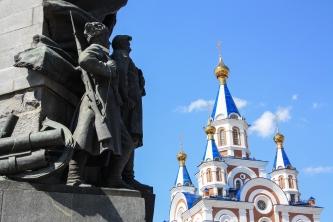 Хабаровск, Памятник героям Гражданской войны - Khabarovsk, monument aux Héros de la Guerre civile